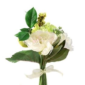 Cream Peony and Hydrangea Bouquet, 11 in.