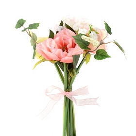 Pink Peony and Hydrangea Bouquet, 11 in.