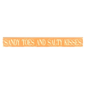 Sandy Toes & Salty Kisses Word Block