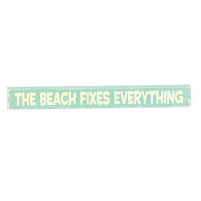 The Beach Fixes Everything Word Block