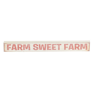 Farm Sweet Farm Word Block