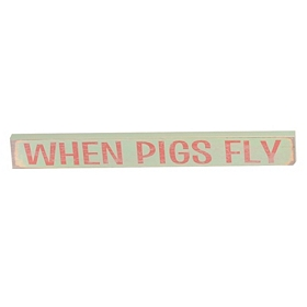 When Pigs Fly Word Block