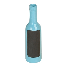 Blue Ceramic Chalkboard Bottle