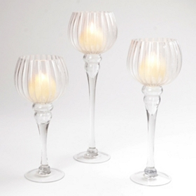 Clear Fluted Charisma, Set of 3