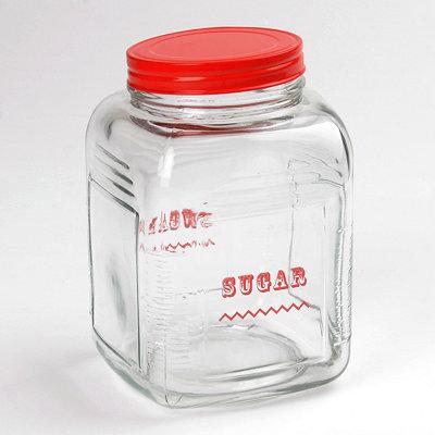 Red Vintage Sugar Canister