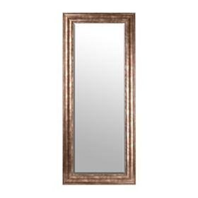Antiqued Silver Framed Mirror, 33x79 in.
