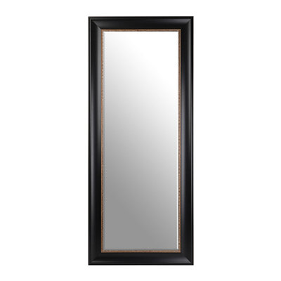 Black & Gold Beaded Framed Mirror, 33x79