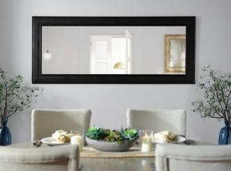 Bronze Matte Framed Mirror, 33.3x79.3 in.
