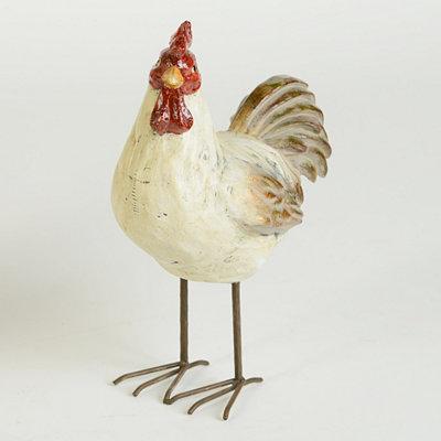 Ceramic Short Rooster Statue