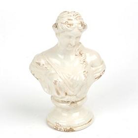 Ceramic Maiden Bust Statue