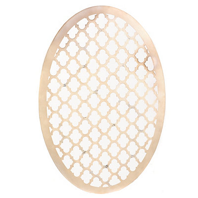 Cream Oval Geometric Wall Plaque