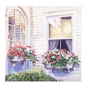 Springtime Windowsill Canvas Art Print