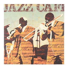 Jazz Cafe Canvas Art Print