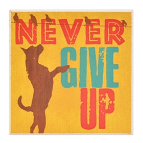 Never Give Up Dog Coaster