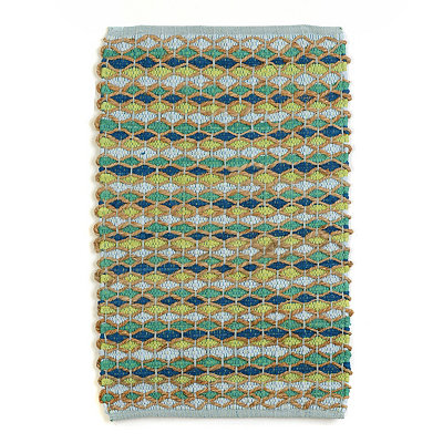 Blue & Green Chindi Accent Rug