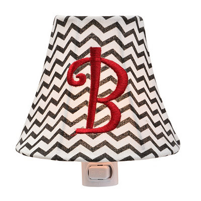 Monogram B Chevron Night Light