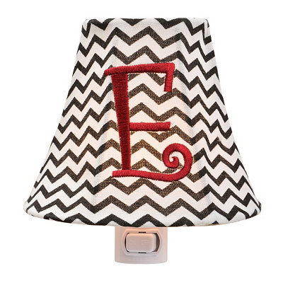Monogram E Chevron Night Light