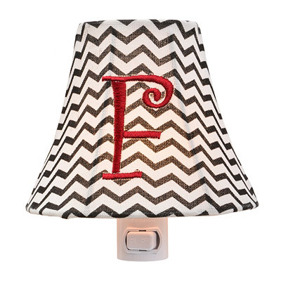 Monogram F Chevron Night Light