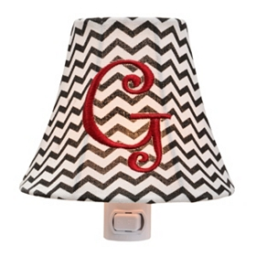 Monogram G Chevron Night Light