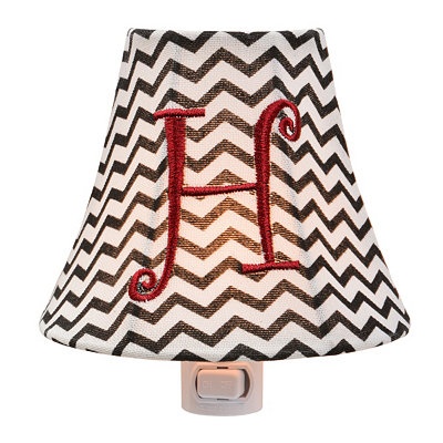Monogram H Chevron Night Light