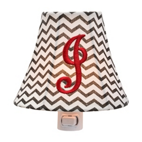Monogram J Chevron Night Light