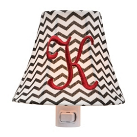 Monogram K Chevron Night Light