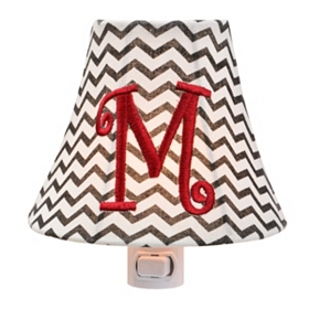 Monogram M Chevron Night Light