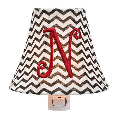 Monogram N Chevron Night Light