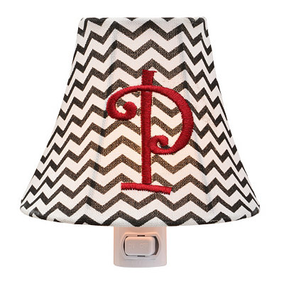 Monogram P Chevron Night Light