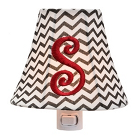 Monogram S Chevron Night Light
