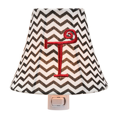 Monogram T Chevron Night Light