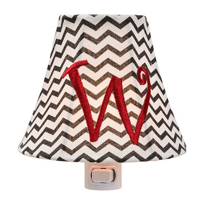 Monogram W Chevron Night Light
