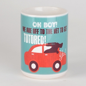 Off to the Vet Dog Mug