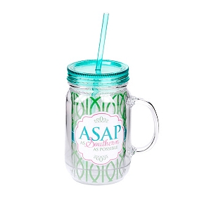 As Southern As Possible Mason Jar Sipper