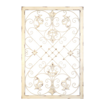 Grace Scrolled Ivory Plaque