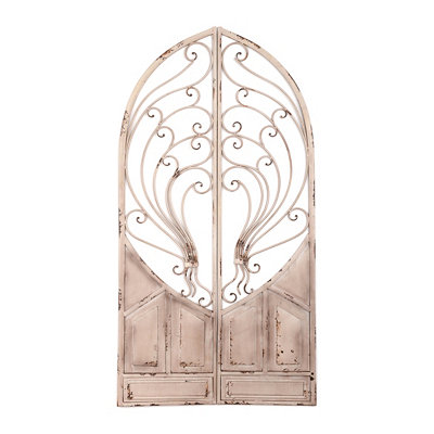 Scrolled Metal Cathedral Door Plaque
