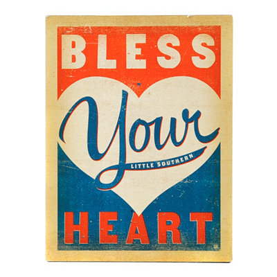 Bless Your Heart Vintage Wall Tin