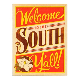 Welcome to the South Vintage Wall Tin