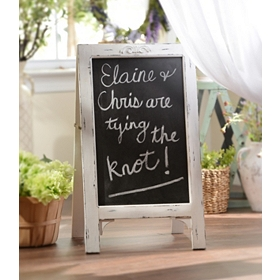 Simple Whitewashed Chalkboard Easel