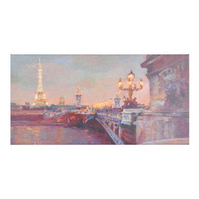 Parisian Evening LED Canvas Art Print