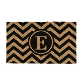 Chevron Monogram E Doormat