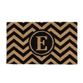 Chevron Monogram E Doormat