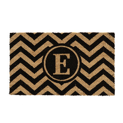 Chevron E Monogram Doormat