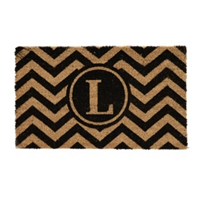 Chevron Monogram L Doormat