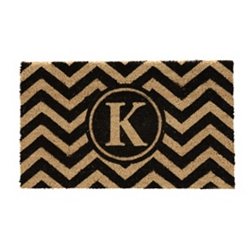 Chevron Monogram K Doormat
