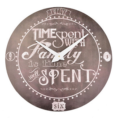 Black Chalk Art Family Time Clock