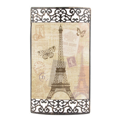 Vintage Paris Metal Art Plaque