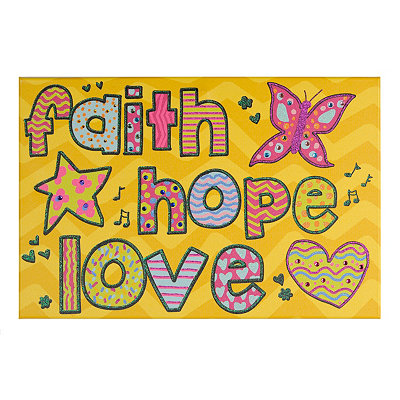 Faith, Hope, Love Canvas Art Print