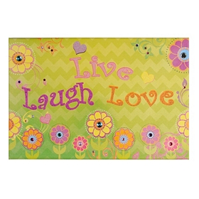 Live, Laugh, Love Canvas Art Print