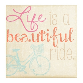 Life is a Beautiful Ride Wall Plaque